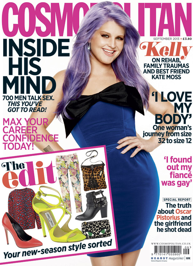 Kelly Osbourne for September 2013's Cosmopolitan