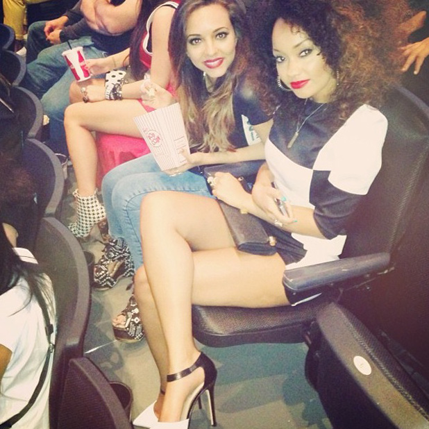 Little Mix's Leigh-Anne Pinnock and Jade Thirlwall at Beyonce's concert