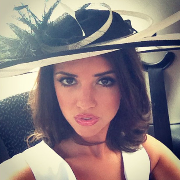 Lucy Mecklenburgh at Goodwood, 2 August 2013