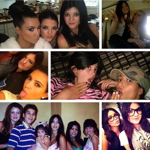 Kylie Jenner's 16th birthday party - 10 August 2013 - Kim Kardashian uploads collage picture