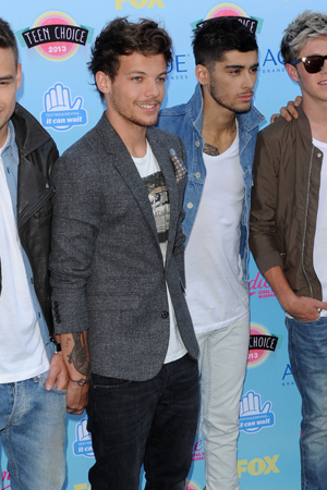 2013 Teen Choice Awards Arrivals held at the Gibson Amphitheatre ONE DIRECTION, Niall Horan, Zayn Malik, Liam Payne, Harry Styles and Louis Tomlinson Date Created : 08/11/2013 Location : Los Angeles, United States Copyright Notice : Visual/WENN.com