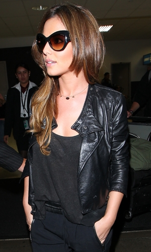 Cheryl Cole arrives at Los Angeles International Airport, LAX, on a Virgin Atlantic flight from London - 14 August 2013