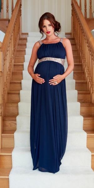 Danielle Lloyd wearing the Holly dress, £105, Danielle Lloyd for Lipstick Boutique