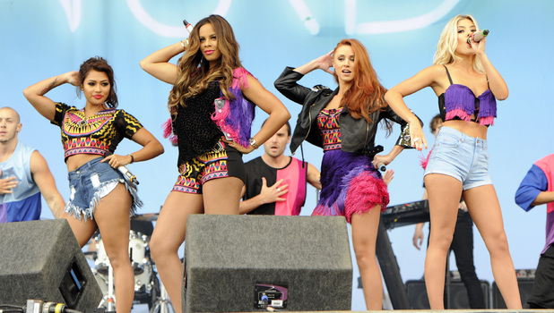 The Saturdays perform at V Festival, Weston Park, Staffordshire - 17 Aug 2013