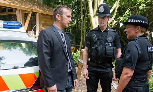 Emmerdale, the police visit Declan, Wed 14 Aug