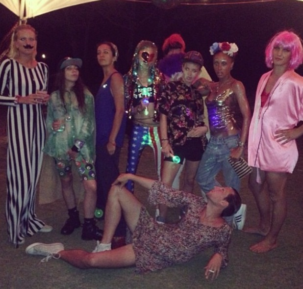 Cara Delevingne celebrates her 21st birthday with cross-dressing party - 13 August