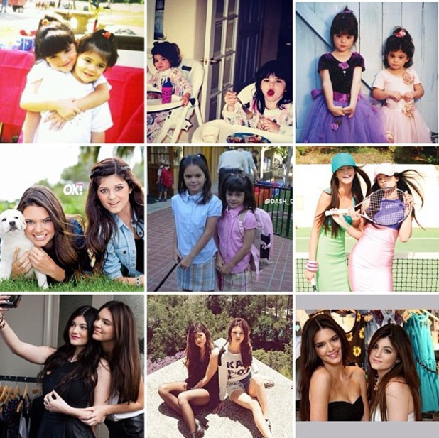 Kylie Jenner's 16th birthday party - 10 August 2013 - Kendall Jenner uploads collage picture