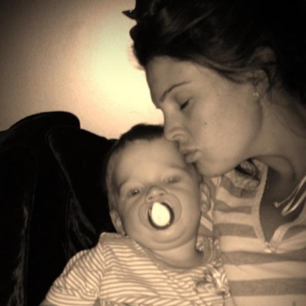Danielle Lloyd returns home from hospital - 13 August 2013