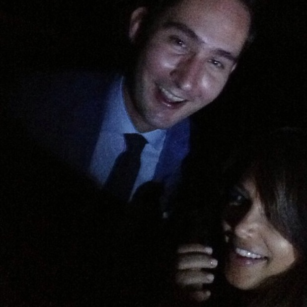 Kim Kardashian posts selfie from sister Kylie Jenner's 16th birthday party, posing with Instagram co-creator Kevin Systrom, August 17 2013