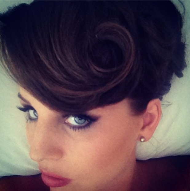 Lydia Bright shows off her glamorous 1950s pin-up hair, Instagram, 13 August 2013