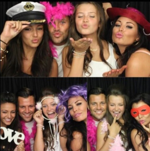 Michelle Keegan, Mark Wright, Jessica Wright at sister Natalya's birthday party - 11 August 2013