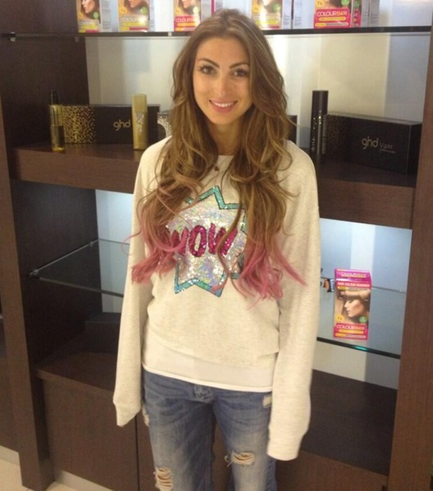 Luisa Zissman pink ombre hair ColourB4