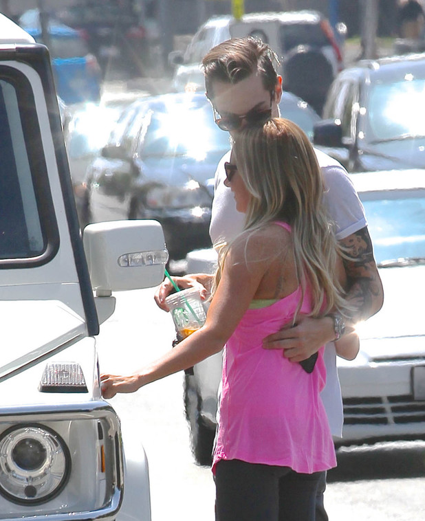 Ashley Tisdale out and about with her fiancé Christopher French - 13 August 2013