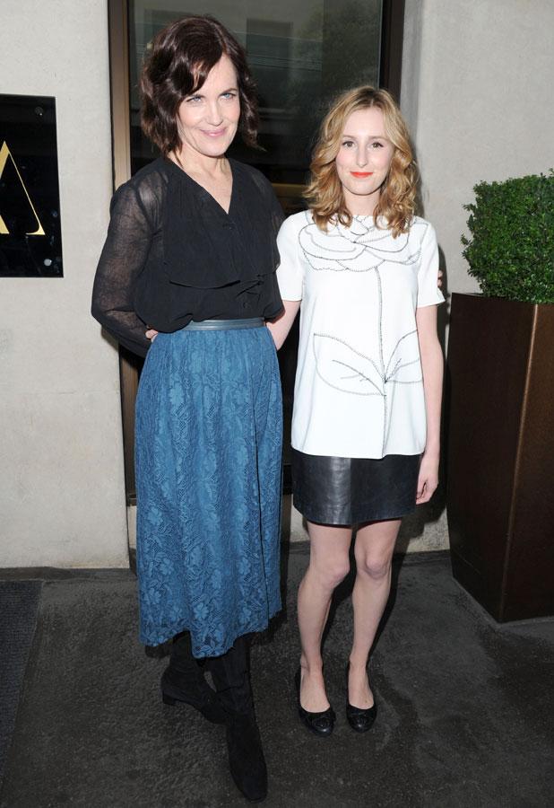 Elizabeth McGovern and Laura Carmichael,  'Downton Abbey' TV series 4 press launch, London, Britain - 13 Aug 2013
