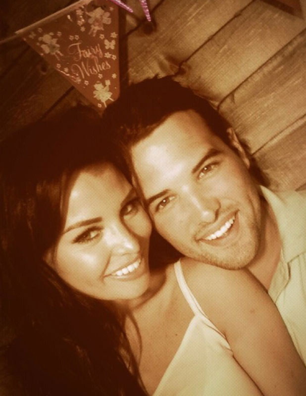Jessica Wright and Ricky Rayment at Natalya Wright's 13th birthday, 11 August 2013