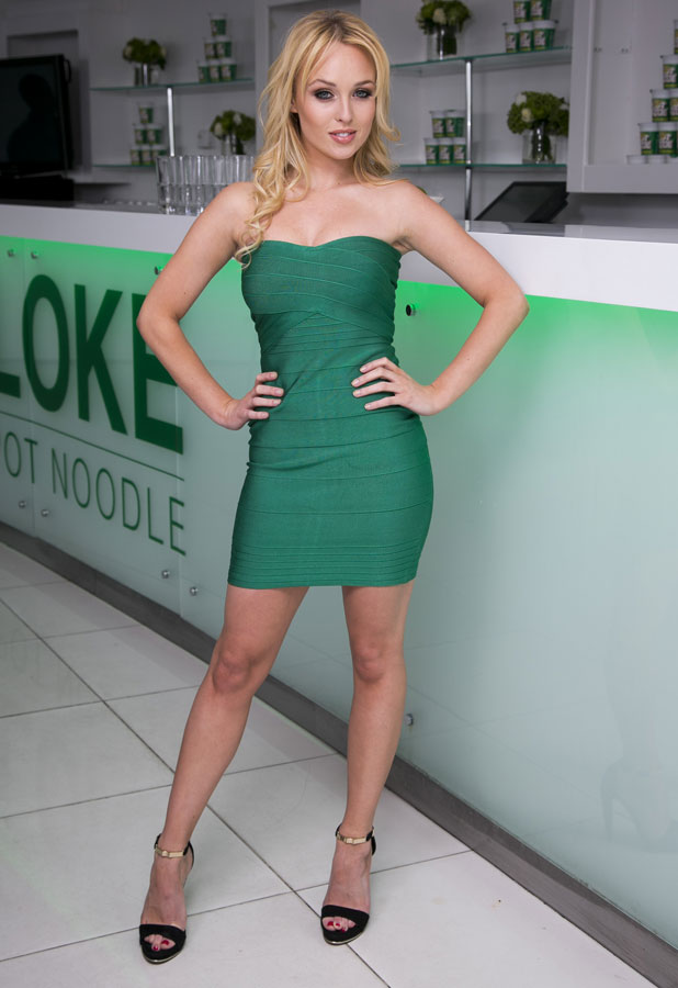 Jorgie Porter hosts Chez Bloke for Pot Noodle, August 2013