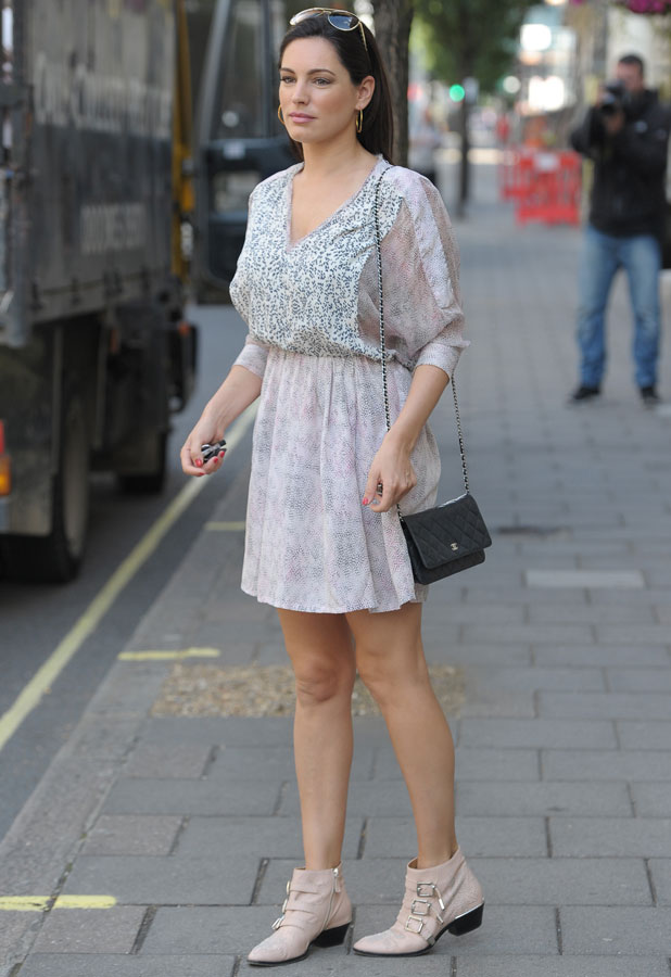 Kelly Brook out and about in Marylebone, 14 August 2013