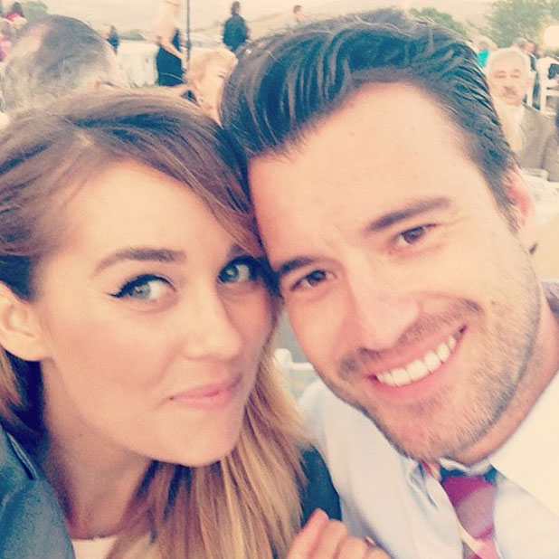 William Tell and Lauren Conrad in a photo to mark their 18-month anniversary, 15 August 2013
