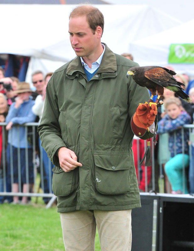 Prince William at The Anglesey County Show at The Anglesey Agricultural Showground, 14 August 2013
