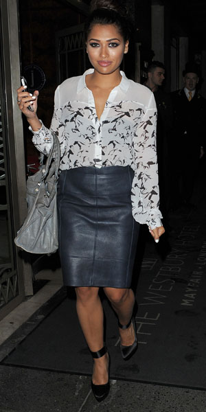 Vanessa White from The Saturdays before the We're the Millers premiere on 14 August 2013