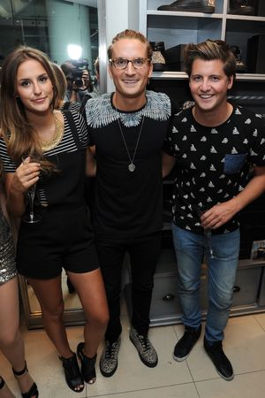 Oliver Proudlock X Oliver Sweeney Launch held at Harvey Nichols - Lucy Watson, Oliver Proudlock, Stevie Johnson - 20.8.2013