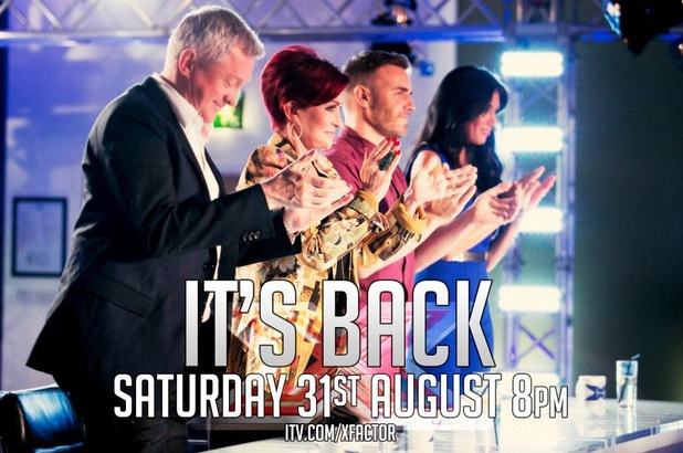 The X Factor returns 31 August 2013