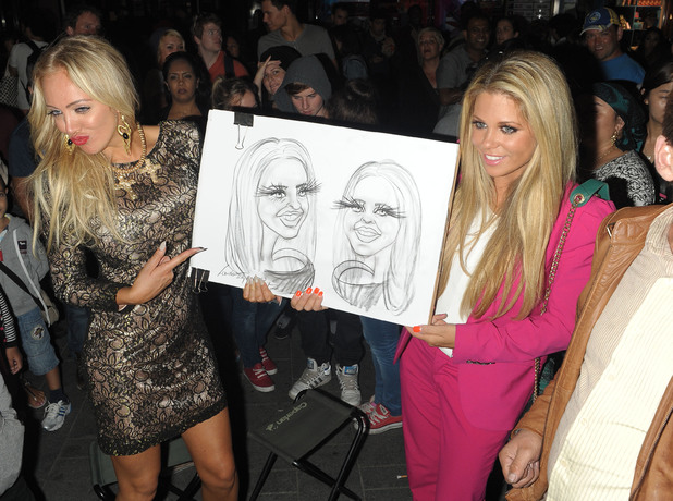Aisleyne Horgan-Wallace and Bianca Gascoigne leaving The Bloggers Love Collection - fashion show held at The Penthouse - 22 August 2013