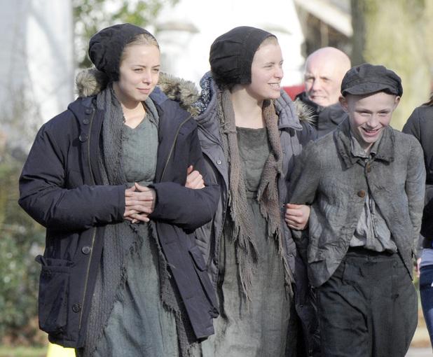 'The Mill' On Set Filming, Cheshire, Britain - 06 Feb 2013 Sacha Parkinson 6 Feb 2013