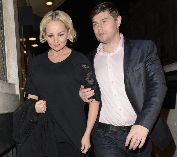Jennifer Ellison and husband Robbie Tickle leave The Ivy, London, 13 June 2013