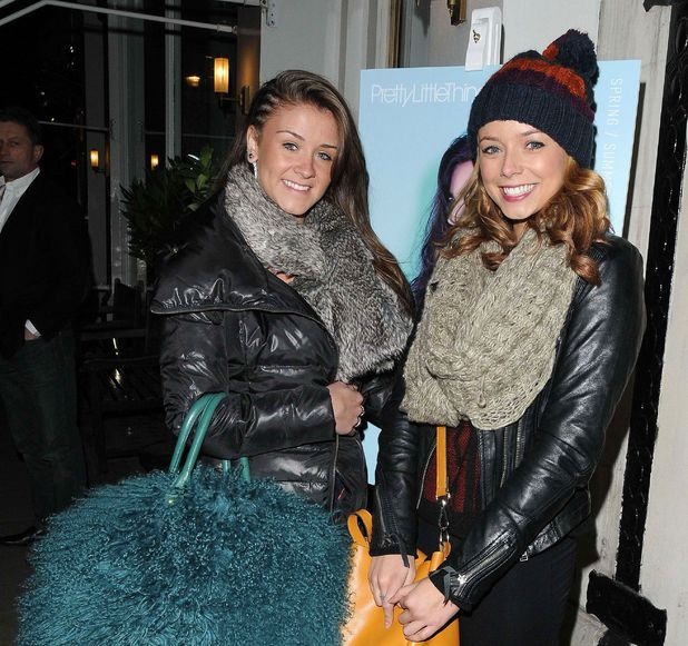 Celebrities at the Pretty Little Things Collection launch party, London, Britain - 16 Jan 2013 Brooke Vincent and Sacha Parkinson