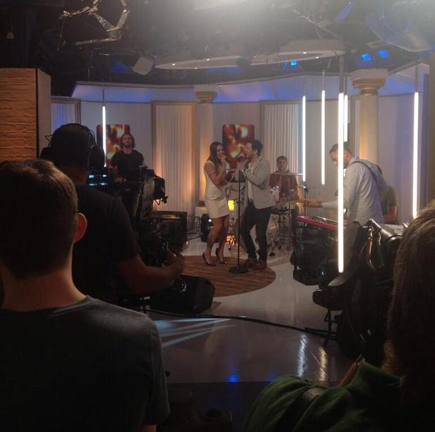 Mel C and Matt Cardle perform on This Morning - 21 August 2013