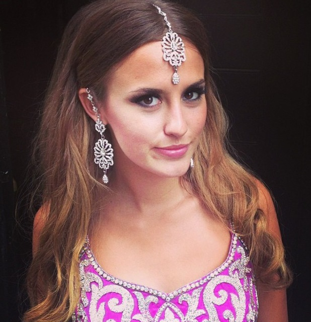 Lucy Watson wears traditional Indian dress - 22 August 2013