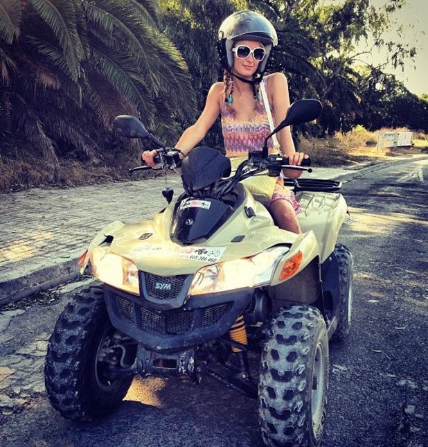 Paris Hilton on a quad bike in Ibiza - 20 August 2013