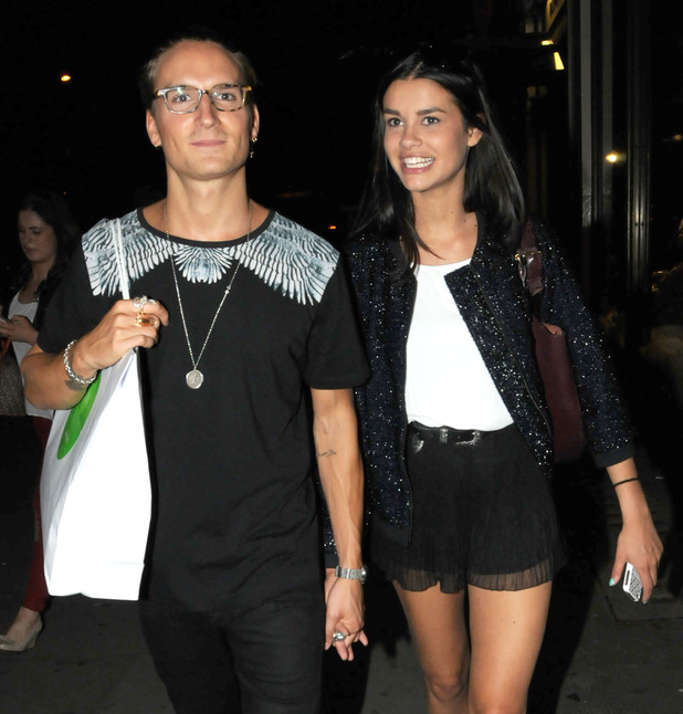 Oliver Proudlock X Oliver Sweeney Launch held at Harvey Nichols - Proudlock and Grace McGovern - 20.8.2013