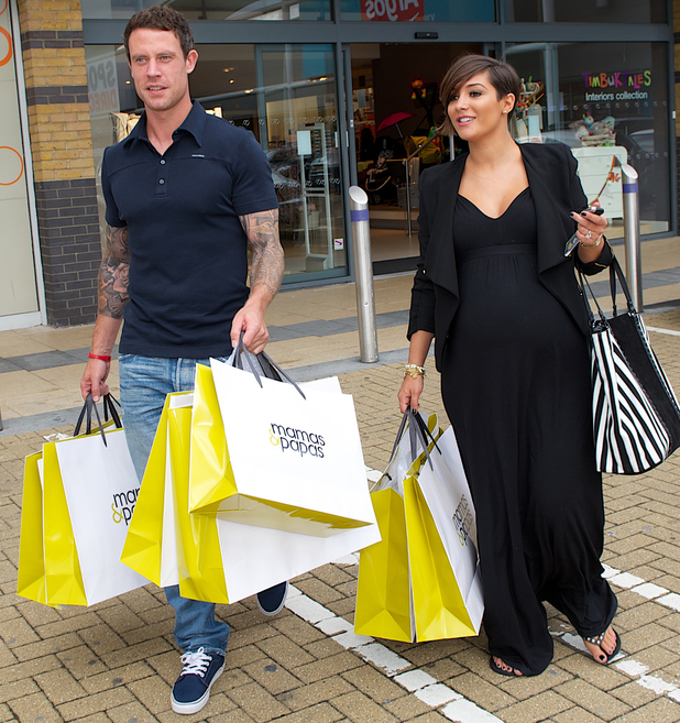 Frankie Sandford and Wayne Bridge shop at Mamas & Papas - 19 August 2013