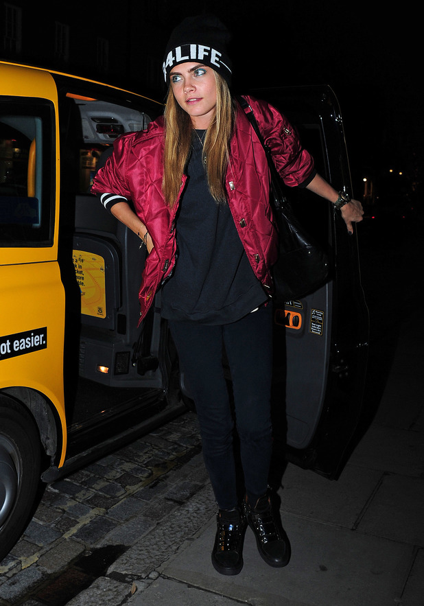 Cara Delevingne Leaves Yellow London Cab - 22 August 2013
