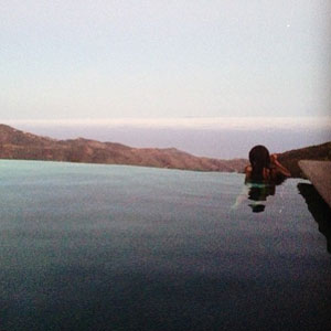 Cheryl Cole swimming while on holiday in LA, August 2013