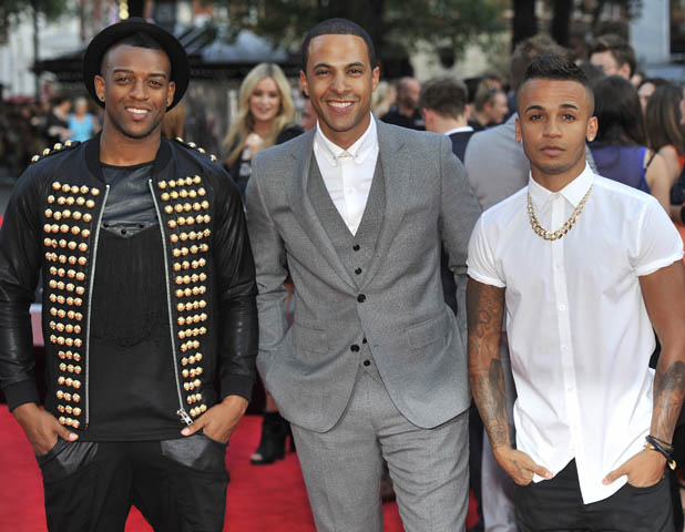 'One Direction: This Is Us' - World premiere held at the Empire Leicester Square - Arrivals. PersonInImage:J.B. Gill,Marvin Humes,Aston Merrygold,JLS Credit :WENN.com
