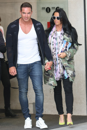 Katie Price leaves the BBC Radio 1 studios carrying a copy of her latest book 'He's The One' PersonInImage:Katie Price, Kieran Hayler Credit :WENN.com 06/19/2013