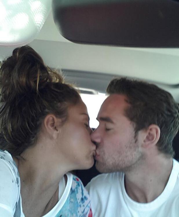 Katie Price and husband Kieran Hayler share a kiss