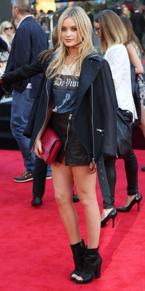 Laura Whitmore at One Direction premiere on 20 August 2013