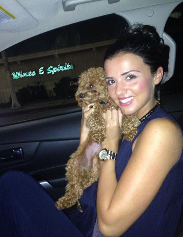 TOWIE's Lucy Mecklenburgh in LA, on way to The Grove