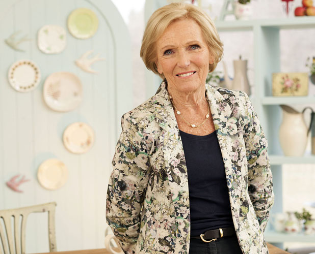 Mary Berry wears Oasis floral blazer on Great British Bake Off on 20 August 2013