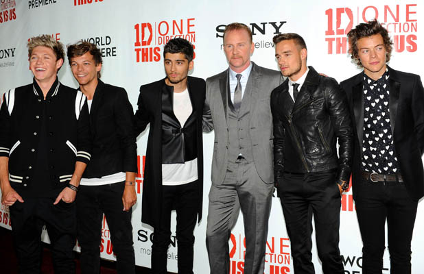 'One Direction: This Is Us' film premiere, London, Britain - 20 Aug 2013 One Direction - Niall Horan, Louis Tomlinson, Zayn Malik, Morgan Spurlock, Liam Payne and Harry Styles 20 Aug 2013