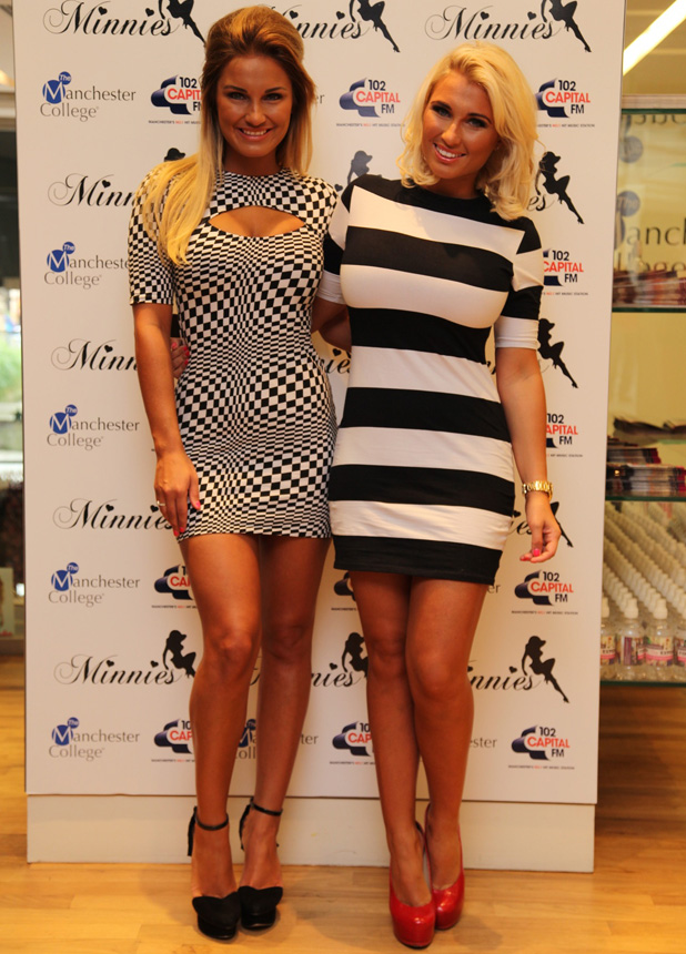 Sam Faiers, Billie Faiers at Minnie's Boutique pop up store in Manchester