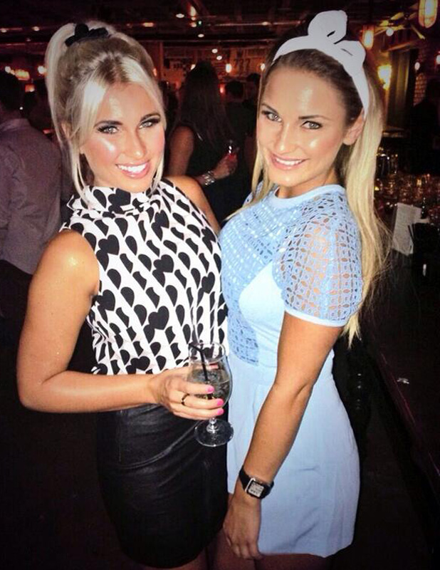 Sam Faiers and Billie Faiers out in Manchester