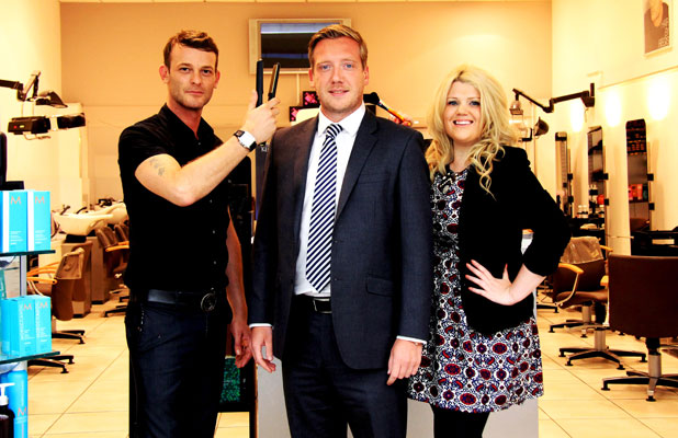 Louis Tomlinson's mum's partner Dan Deakin wins Best Groomed Male 2013 in a Meadowhall Shopping Centre competition
