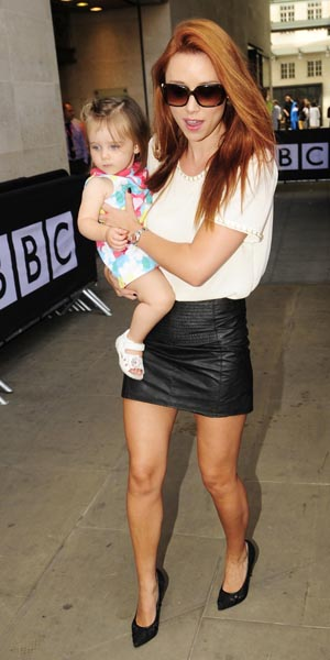 Una Healy outside Radio 1 studios with Aoife Belle on 19 August 2013