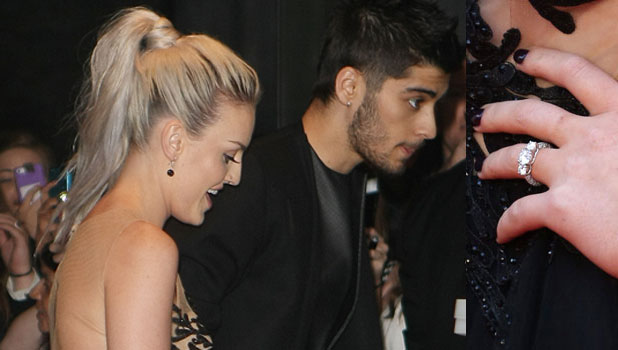 Zayn Malik and Perrie Edwards at the world premiere of One Direction's movie, London, 20 August 2013