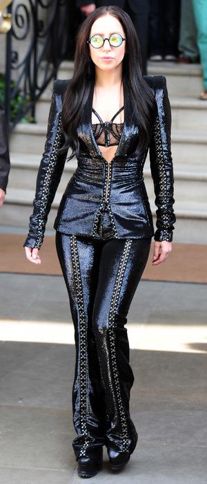 Lady Gaga leaving her hotel in London, 29 August